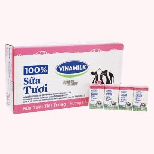 Thùng 48 hộp sữa tươi hương dâu Vinamilk 100% Sữa Tươi 110ml