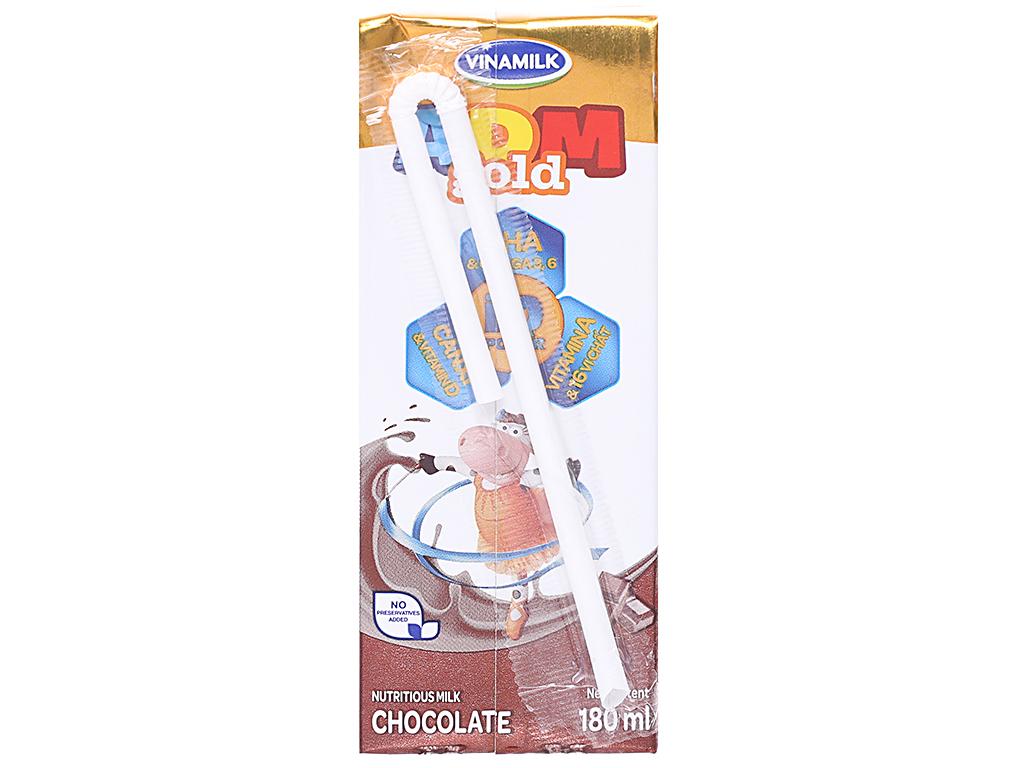 Thùng 48 hộp sữa dinh dưỡng Vinamilk ADM Gold sô cô la 180ml 3