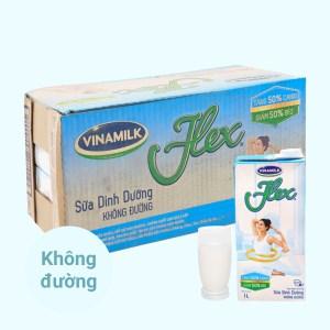 Thùng 12 hộp sữa dinh dưỡng không đường Vinamilk Flex 1 lít