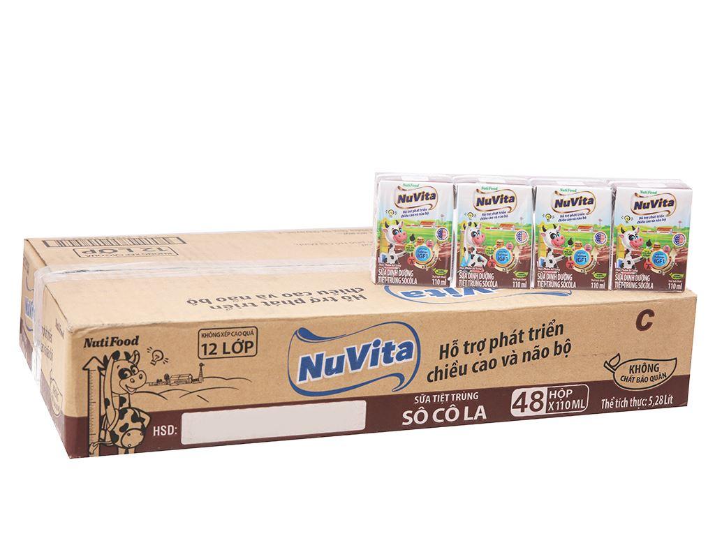 Thùng 48 hộp sữa tiệt trùng socola Nuvita 110ml 2