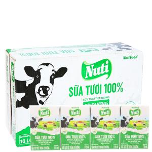 Thùng 48 hộp sữa tươi tiệt trùng Nuti Sữa tươi 100% có đường 110ml