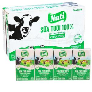 Thùng 48 hộp Nuti Sữa tươi 100% 110ml