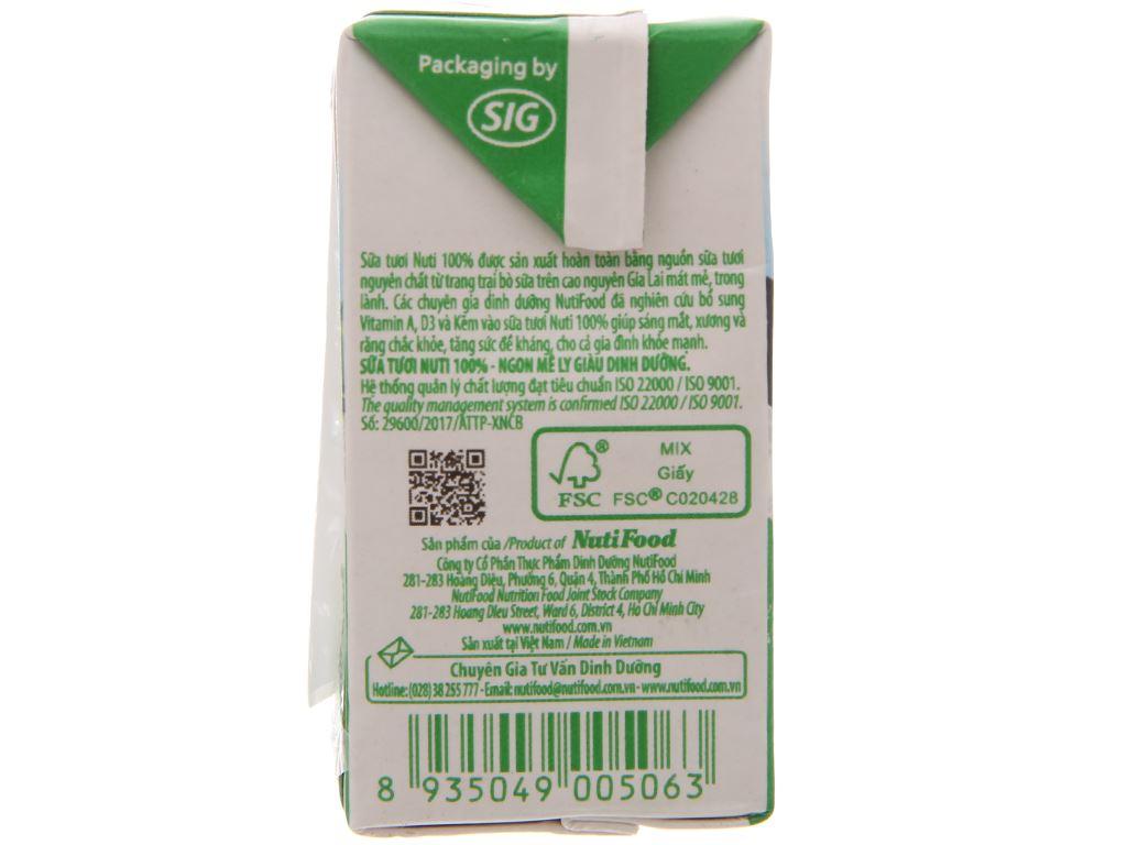 Thùng 48 hộp sữa tươi tiệt trùng có đường Nuti Sữa tươi 100% 110ml 4
