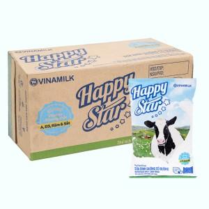 Thùng 48 bịch sữa dinh dưỡng có đường Vinamilk Happy Star 220ml