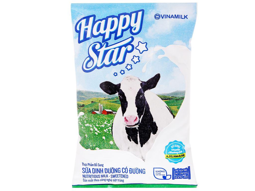 Thùng 48 bịch sữa dinh dưỡng có đường Vinamilk Happy Star 220ml 7