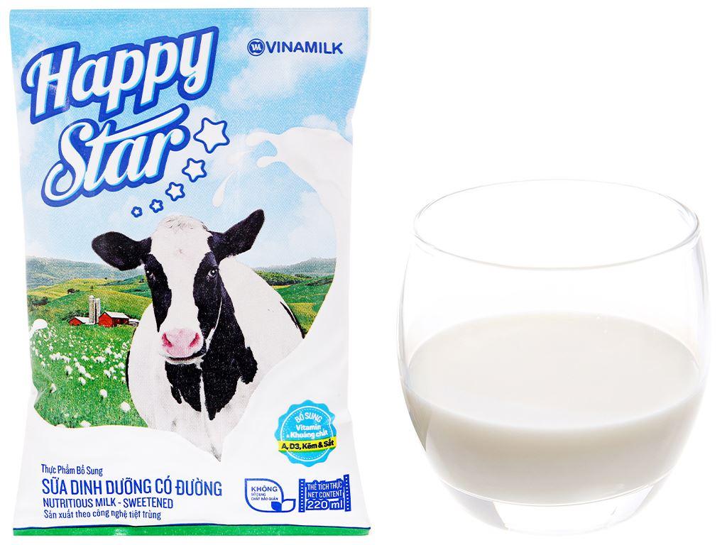 Thùng 48 bịch sữa dinh dưỡng có đường Vinamilk Happy Star 220ml 11