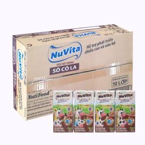 Thùng 48 hộp sữa tiệt trùng socola Nuvita 180ml