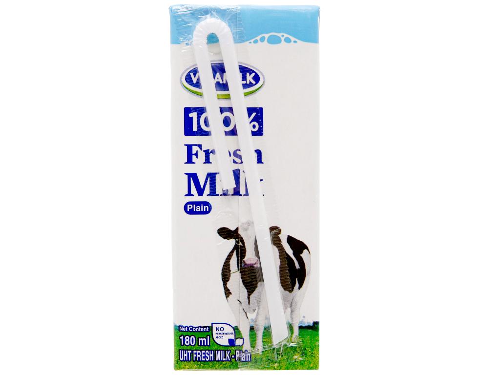 Thùng 48 hộp sữa tươi tiệt trùng Vinamilk 100% Sữa Tươi không đường 180ml 4