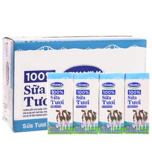Thùng 48 hộp sữa tiệt trùng Vinamilk 100% Sữa Tươi không đường 180ml