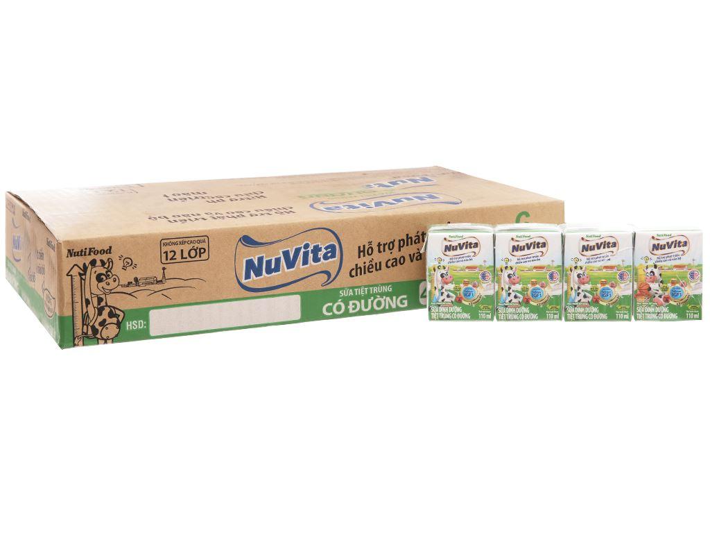 Thùng 48 hộp sữa tiệt trùng có đường Nuvita 110ml 2