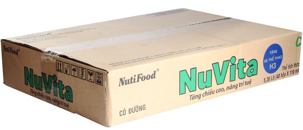Sữa tiệt trùng Nuvita có đường hộp 110ml (thùng 48 hộp)