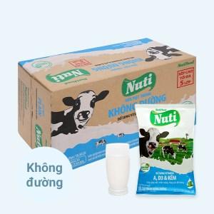 Thùng 48 bịch sữa tiệt trùng không đường Nuti 220ml