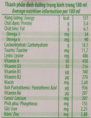 Thùng 48 hộp sữa tiệt trùng có đường Nuvita 180ml 6