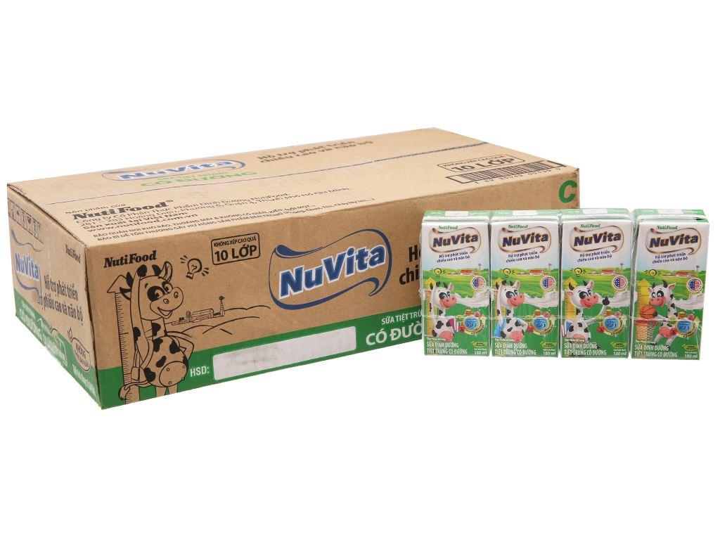 Thùng 48 hộp sữa tiệt trùng có đường Nuvita 180ml 2