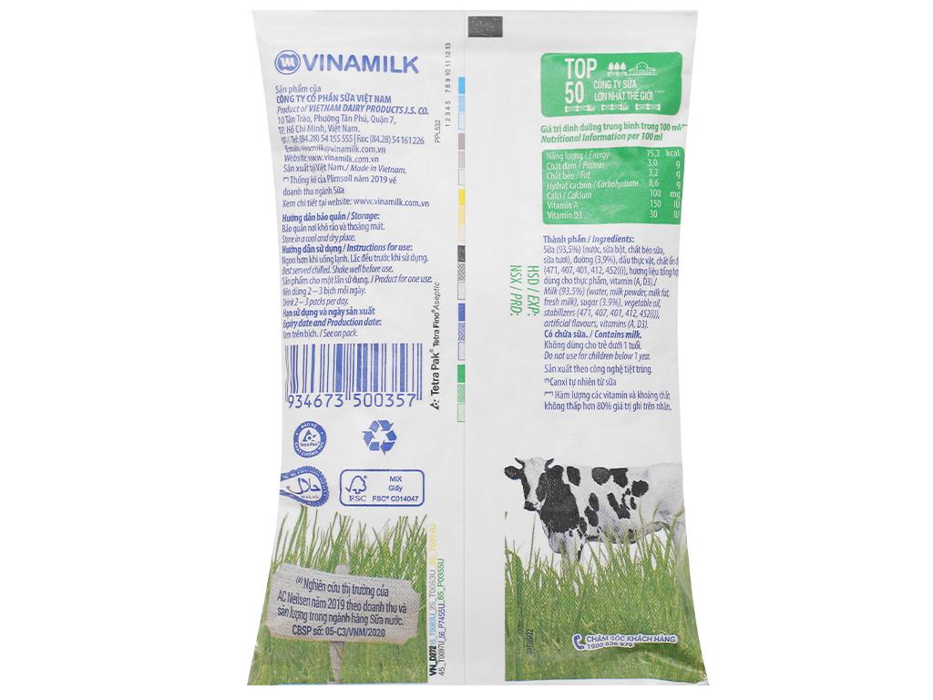 Thùng 48 bịch sữa dinh dưỡng có đường Vinamilk A&D3 220ml 10