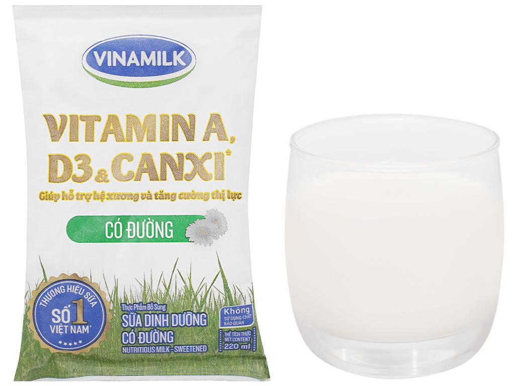 Thùng 48 bịch sữa dinh dưỡng có đường Vinamilk A&D3 220ml 14