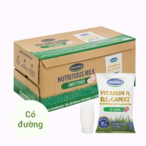 Thùng 48 bịch sữa dinh dưỡng có đường Vinamilk A&D3 220ml