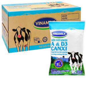 Thùng 48 bịch sữa dinh dưỡng không đường Vinamilk A&D3 220ml