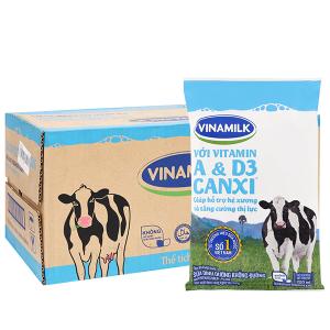 Thùng 48 bịch sữa dinh dưỡng Vinamilk A&D3 không đường 220ml