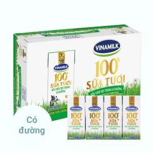 Thùng 48 hộp sữa tươi có đường Vinamilk 180ml