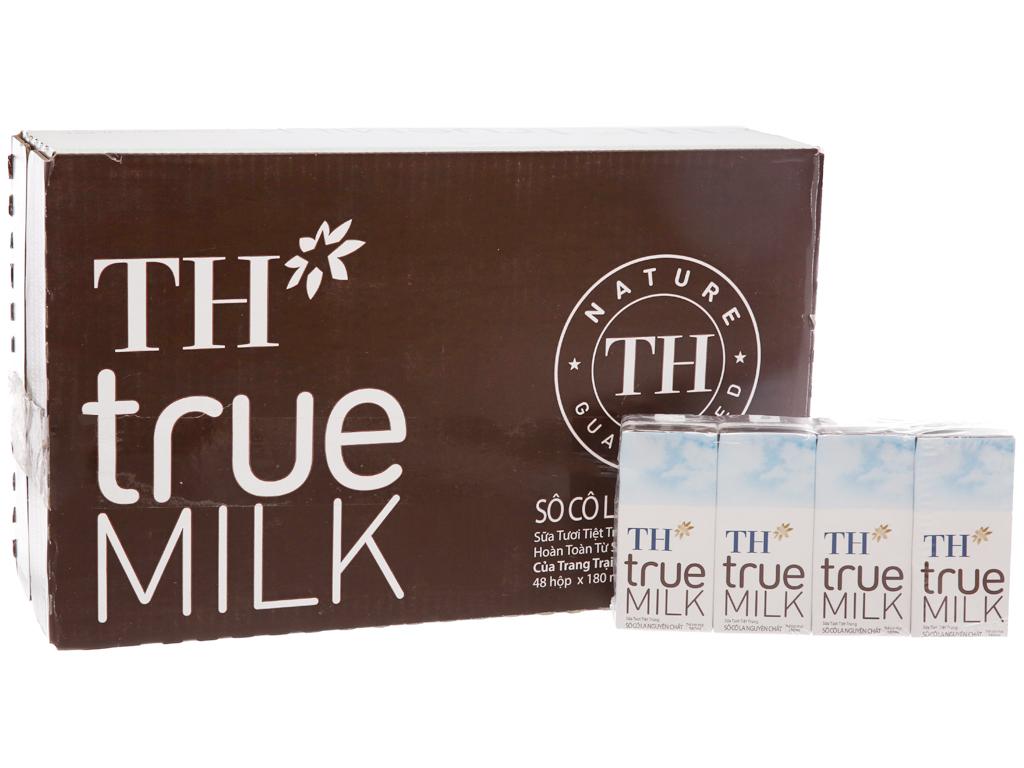 Thùng 48 hộp sữa tươi tiệt trùng socola TH true MILK 180ml 2
