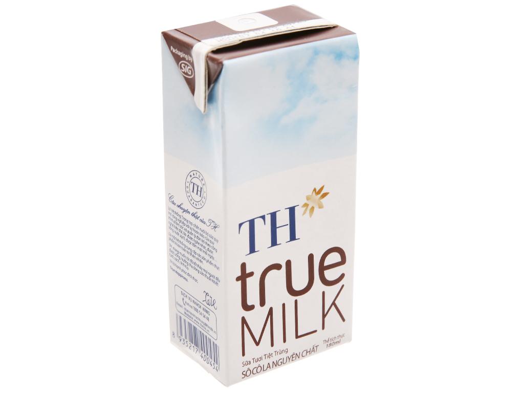 Thùng 48 hộp sữa tươi tiệt trùng socola TH true MILK 180ml 3
