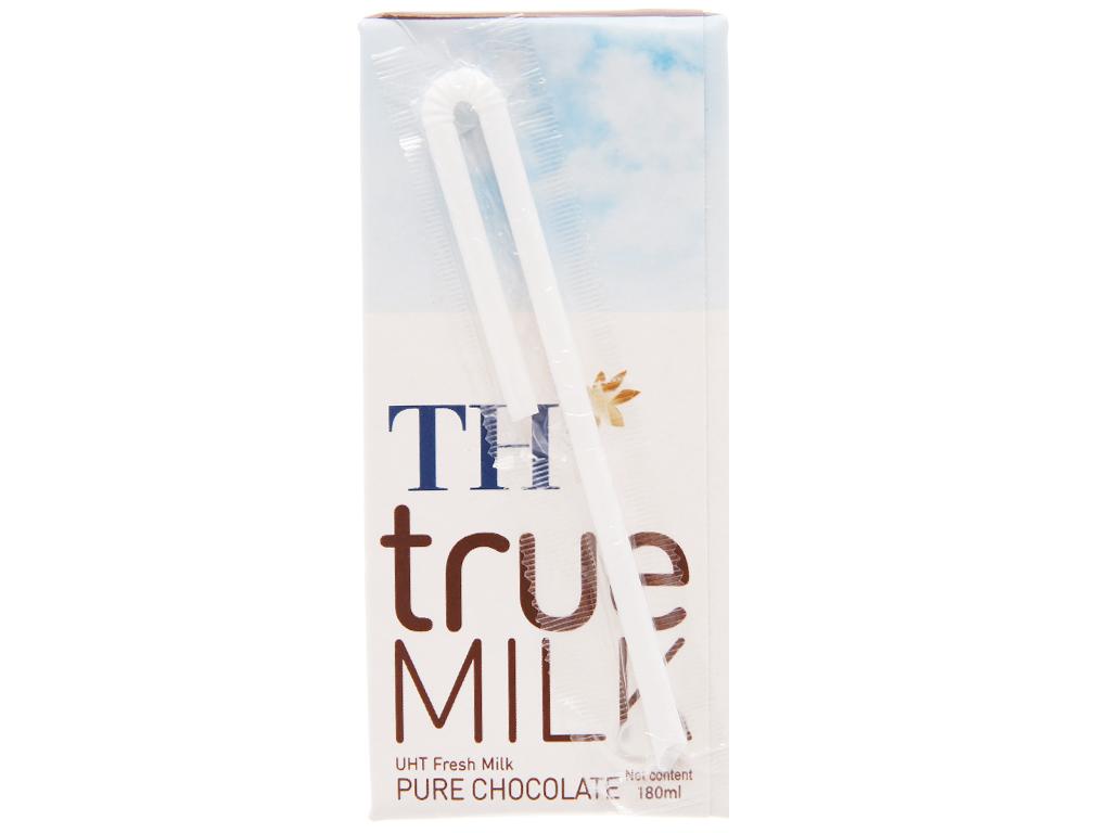 Thùng 48 hộp sữa tươi tiệt trùng socola TH true MILK 180ml 4