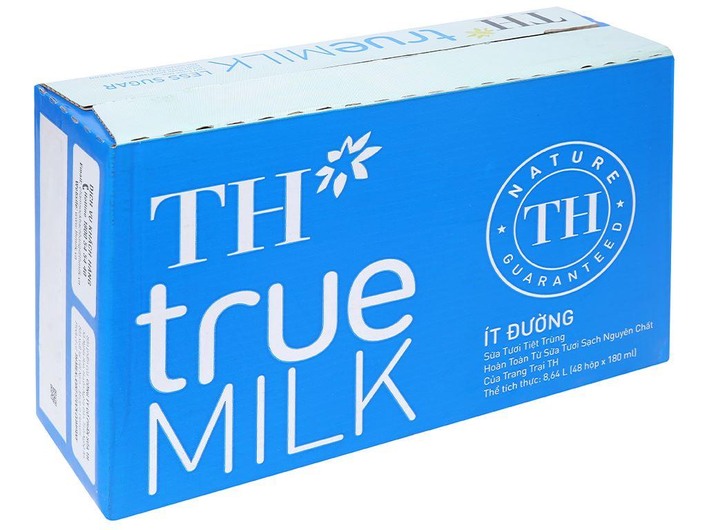 Thùng 48 hộp sữa tươi tiệt trùng ít đường TH true MILK 180ml 1