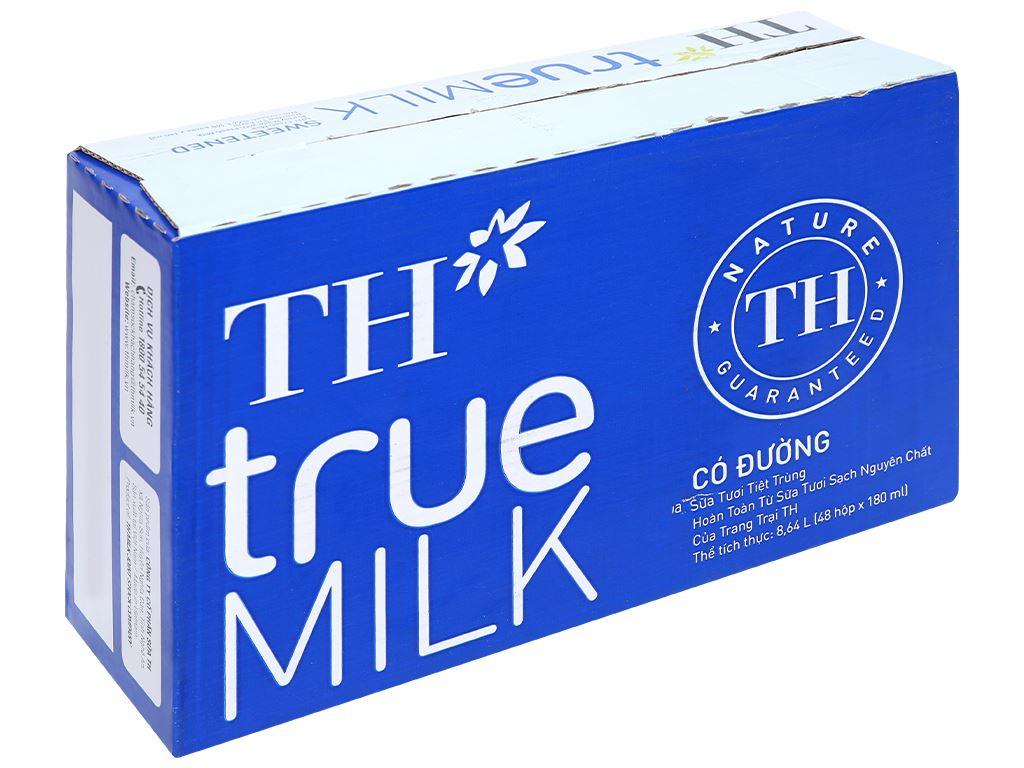 Thùng 48 hộp sữa tươi tiệt trùng có đường TH true MILK 180ml 1