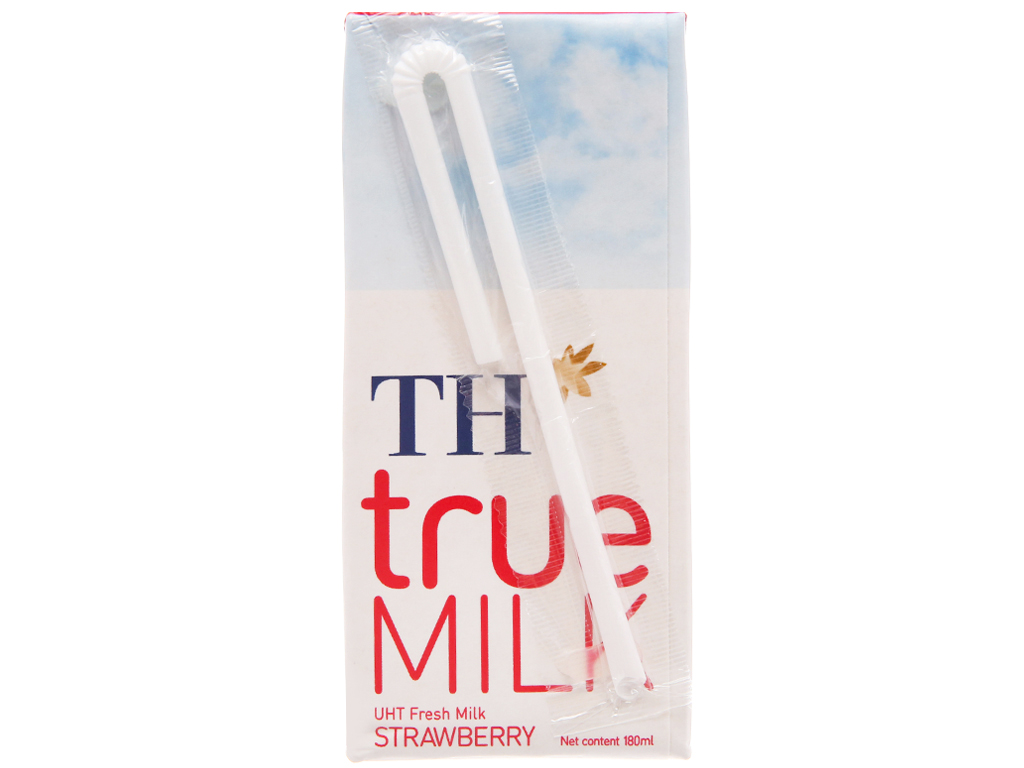 Thùng 48 hộp sữa tươi tiệt trùng TH true MILK hương dâu 180ml 4
