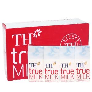 Thùng 48 hộp sữa tươi tiệt trùng hương dâu TH true MILK 180ml