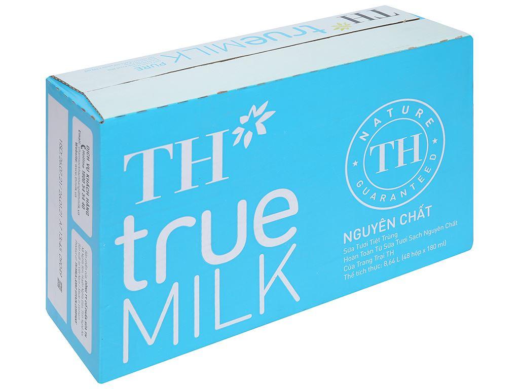 Thùng 48 hộp sữa tươi tiệt trùng nguyên chất không đường TH true MILK 180ml 1