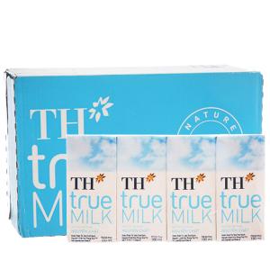 Thùng 48 hộp sữa tươi tiệt trùng TH true MILK nguyên chất 180ml