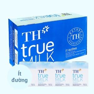 Thùng 48 hộp sữa tươi tiệt trùng ít đường TH true MILK 110ml
