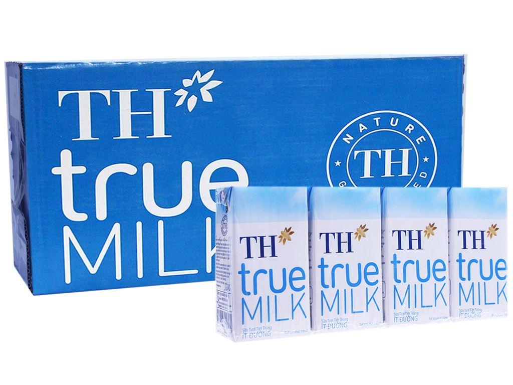 Thùng 48 hộp sữa tươi tiệt trùng TH true MILK ít đường 110ml 1