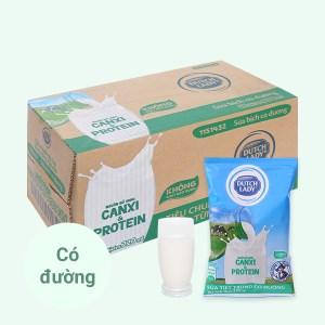 Thùng 48 bịch sữa tiệt trùng có đường Dutch Lady Canxi & Protein 220ml