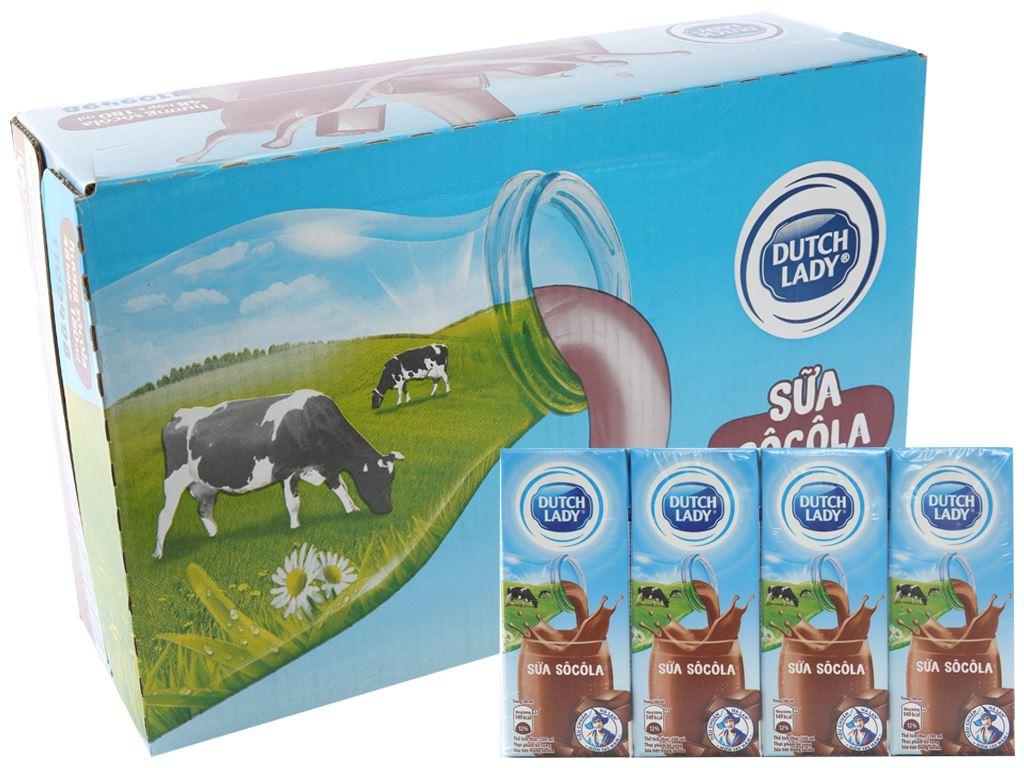 Thùng 48 hộp sữa tiệt trùng socola Dutch Lady 180ml 1