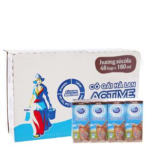 Thùng 48 hộp sữa tiệt trùng Dutch Lady Active sô cô la 180ml