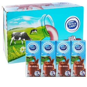 Thùng 48 hộp sữa tiệt trùng socola Dutch Lady 180ml