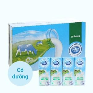 Thùng 48 hộp sữa tươi tiệt trùng có đường Dutch Lady 180ml