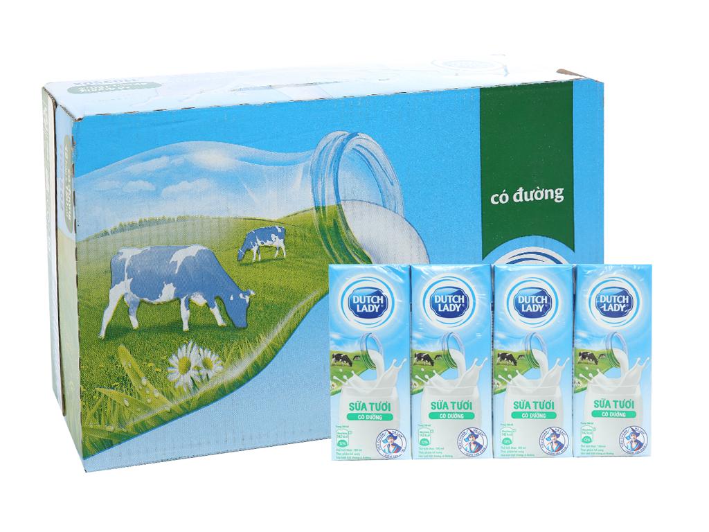 Thùng 48 hộp sữa tươi tiệt trùng có đường Dutch Lady 180ml 1