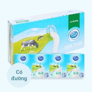 Thùng 48 hộp sữa tươi tiệt trùng có đường Dutch Lady 110ml