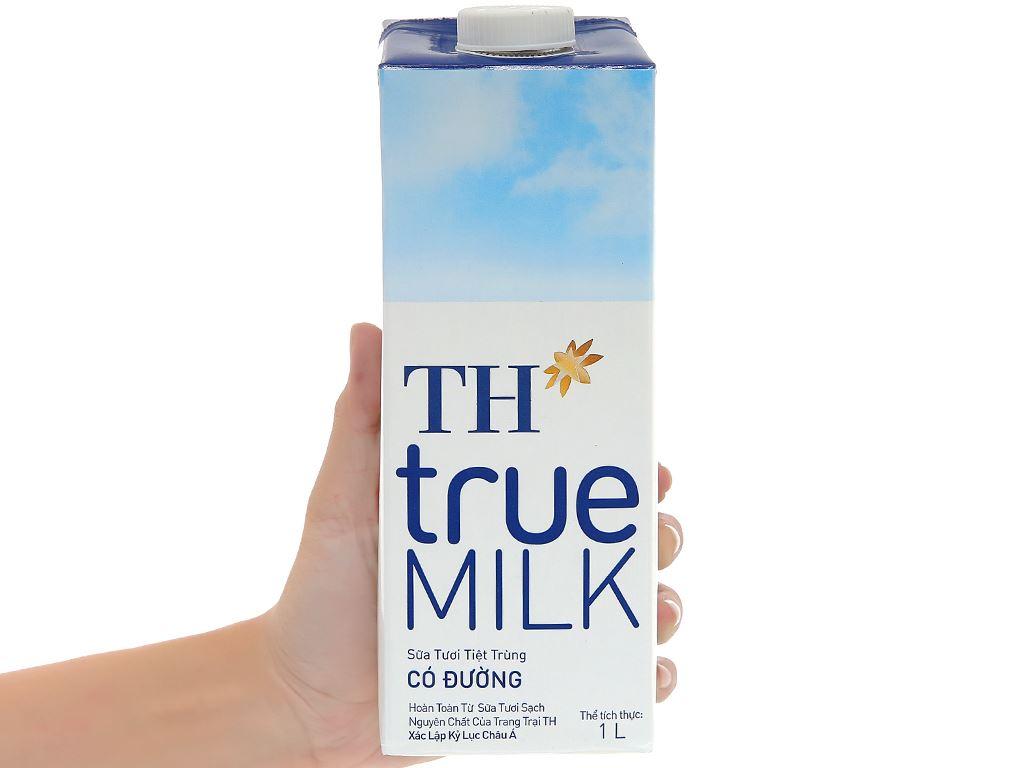 Thùng 12 hộp sữa tươi tiệt trùng có đường TH true MILK 1 lít 9