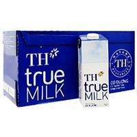 Thùng sữa tươi tiệt trùng TH True Milk Có đường hộp 1lít (12 hộp)