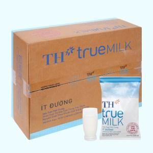 Thùng 48 bịch sữa tươi tiệt trùng ít đường TH true MILK 220ml