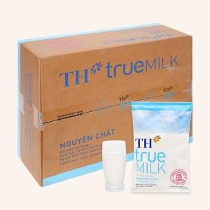 Thùng 48 bịch sữa tươi tiệt trùng nguyên chất không đường TH true MILK 220ml