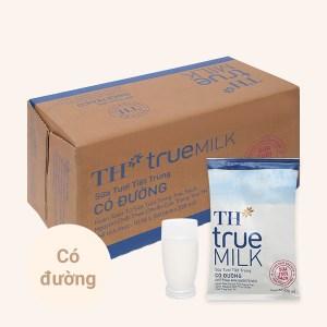 Thùng 48 bịch sữa tươi tiệt trùng có đường TH true MILK 220ml