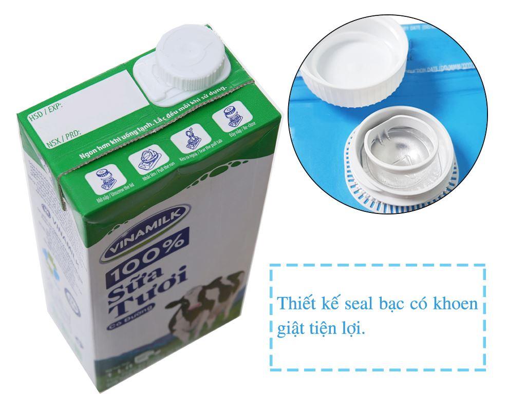Thùng 12 hộp sữa tươi có đường Vinamilk 100% Sữa Tươi 1 lít 3