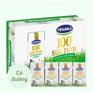 Thùng 48 hộp sữa tươi có đường Vinamilk 100% Sữa Tươi 110ml