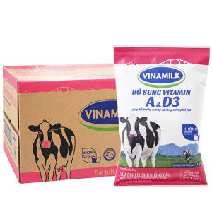 Thùng 48 bịch sữa dinh dưỡng Vinamilk A&D3 hương dâu 220ml